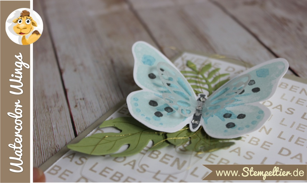 stampin up watercolor wings schmetterling nur mut liebe das leben stempeltier butterfly card botanical blooms 1