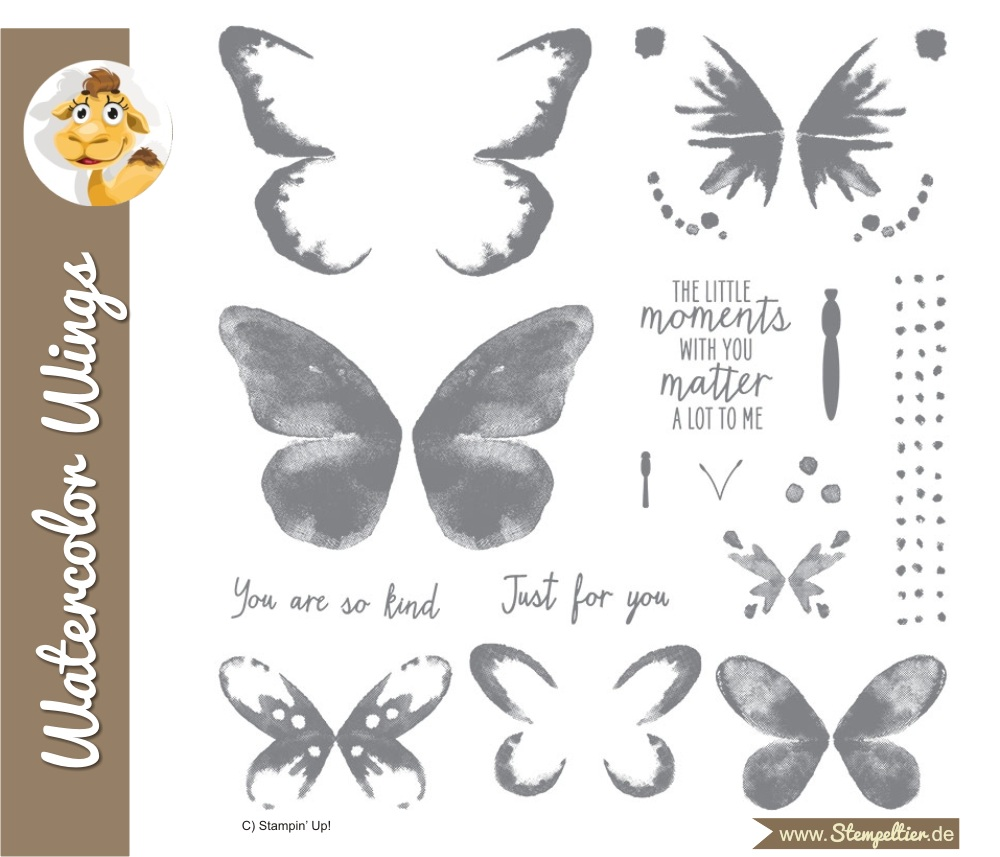 watercolor wings stampin up bold butterfly thinlits stempeltier