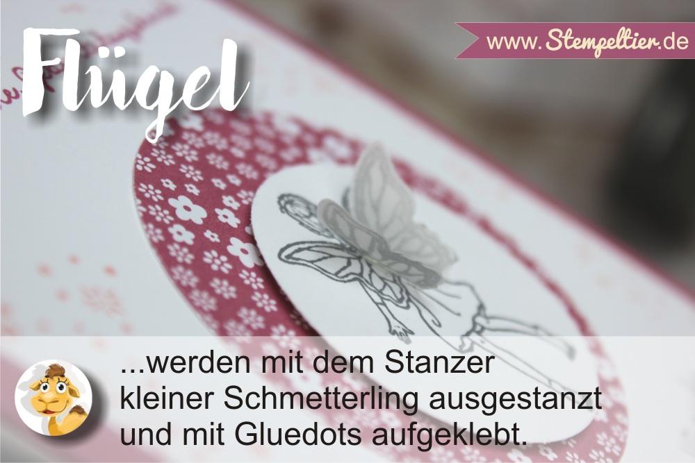Stampin Up einfach Zauberhaft Feen mit Flügeln aus Schmetterling