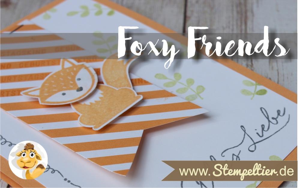 stampin up ausgefuchst foxy friends pfirsich pur peach alles liebe geburtstag Stempeltier