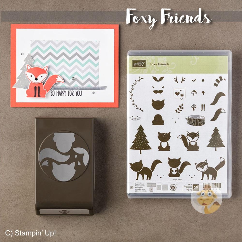 stampin up foxy friends ausgefuchst