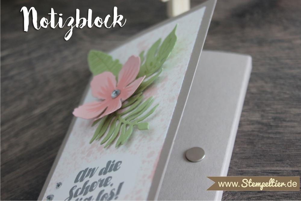 stampin up notizblock Block verpacken Blumen Botanical Blooms botanischer Garten Stempeltier 3