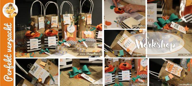 Workshop mit dem Projektset Perfekt Verpackt