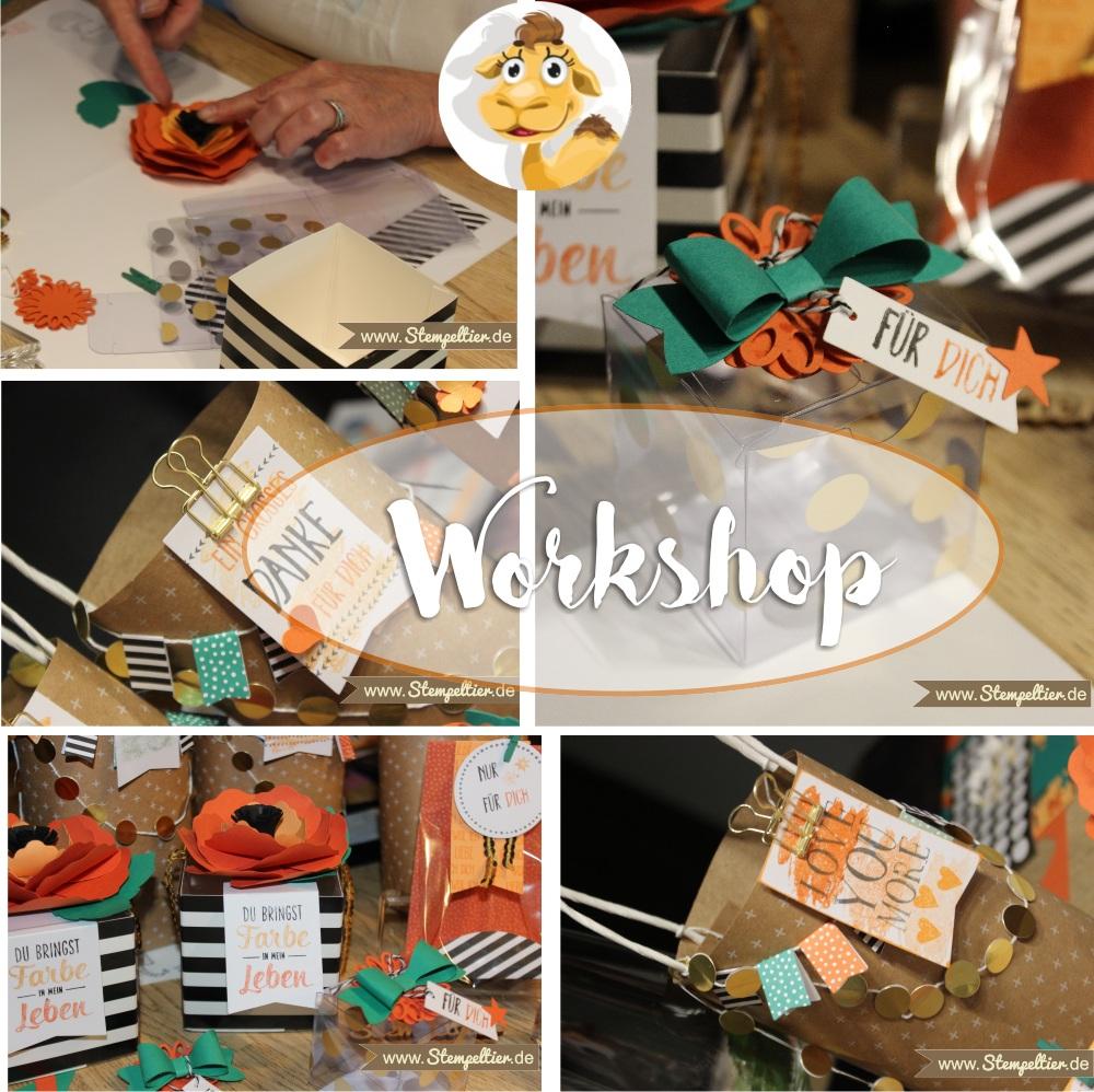 stampin up workshop projekt set Perfekt Verpackt beim Stempeltier Kaufbeuren impressionen 2