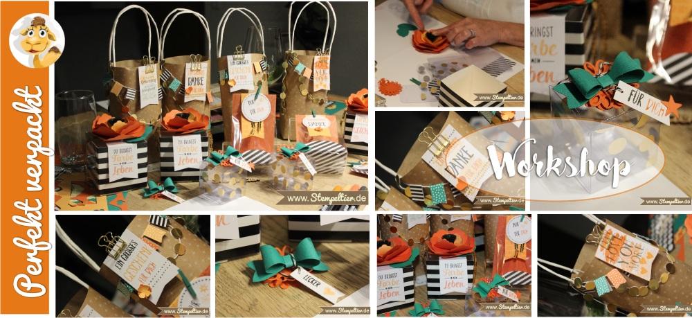 stampin up workshop projekt set Perfekt Verpackt beim Stempeltier Kaufbeuren