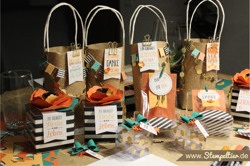 stampin up workshop projekt set Perfekt Verpackt beim Stempeltier Perfectly Wrapped bags