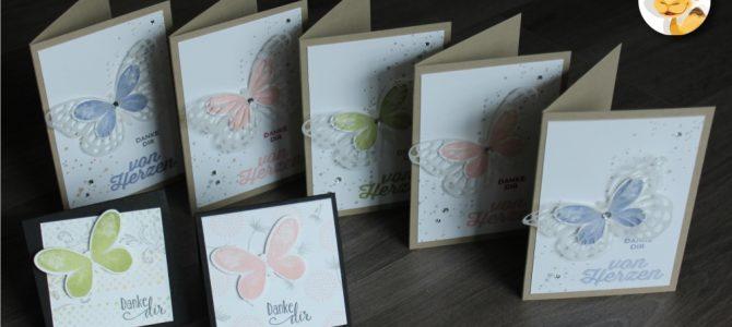Schmetterlinge sagen Danke
