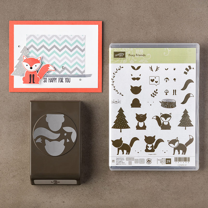 142326G stampin up foxy friends