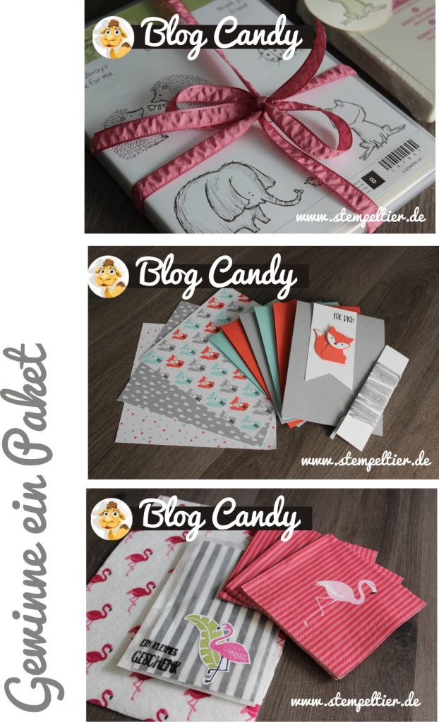 blog Candy Gewinnen Verlosung vom Stempeltier loveyoulots pop of paradise foxy friends