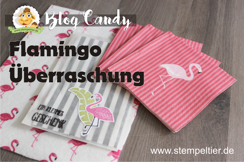 blog Candy Stempeltier verlosung flamingo pop of paradise