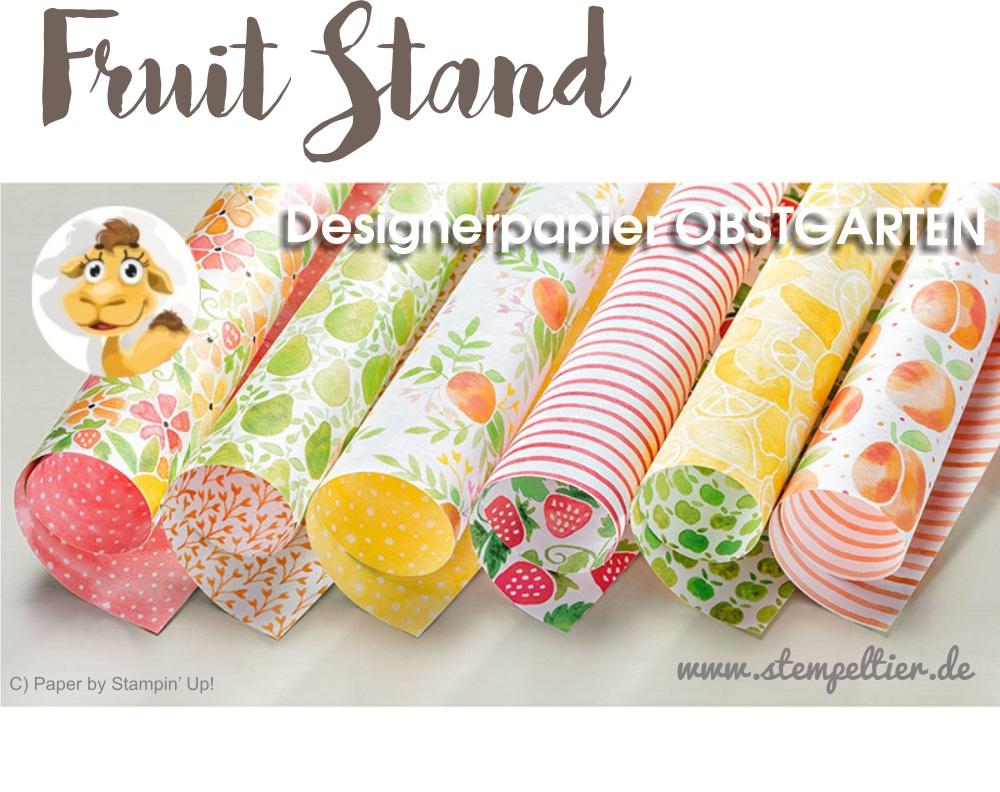 fruit stand designer series paper DSP Obstgarten by stampin up Stempeltier