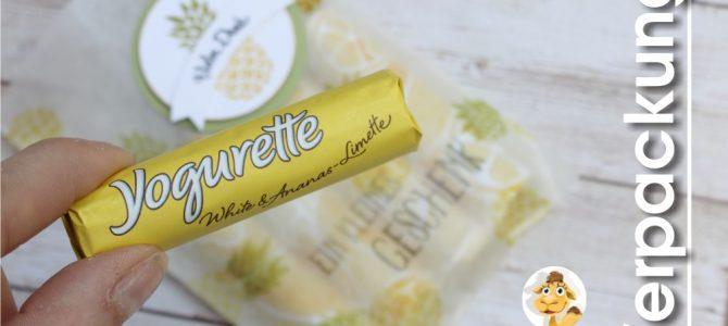 sommerliche Ananas & Limette Yogurette verpacken