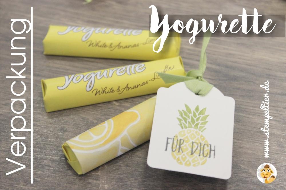 stampin up yogurette verpackung verpacken anleitung ananas limette vom Stempeltier goodie fresh fruit obstgarten DSP