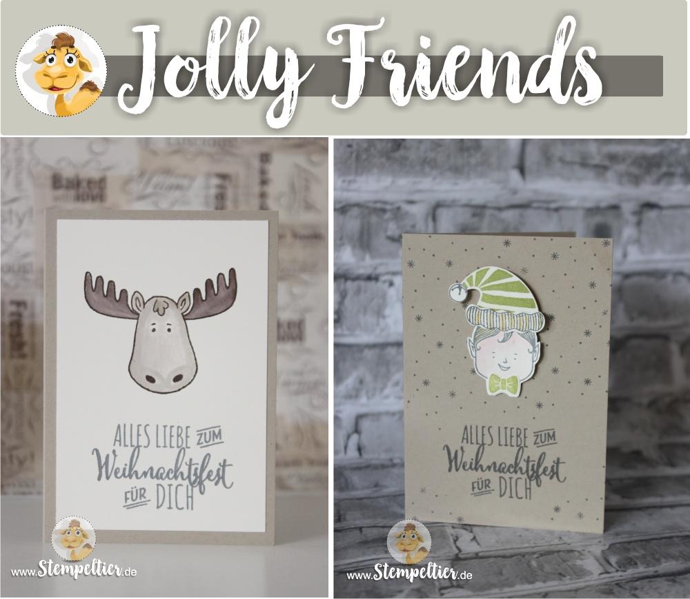 jolly friends by stampin up winter 2016 sneak peek neu elch elf vom Stempeltier Kaufbeuren