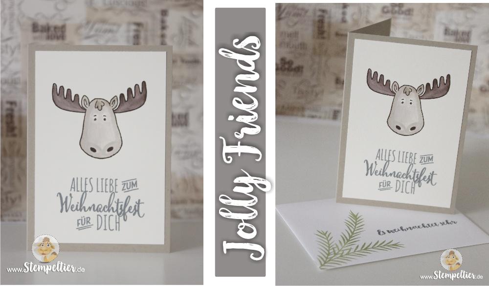jolly friends by stampin up winter 2016 sneak peek vorschau Elch moose Stempeltier