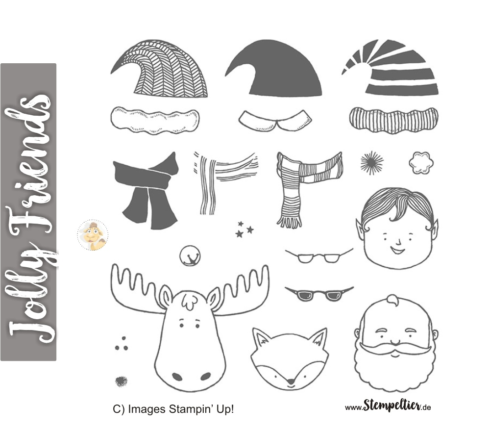 jolly friends by stampin up