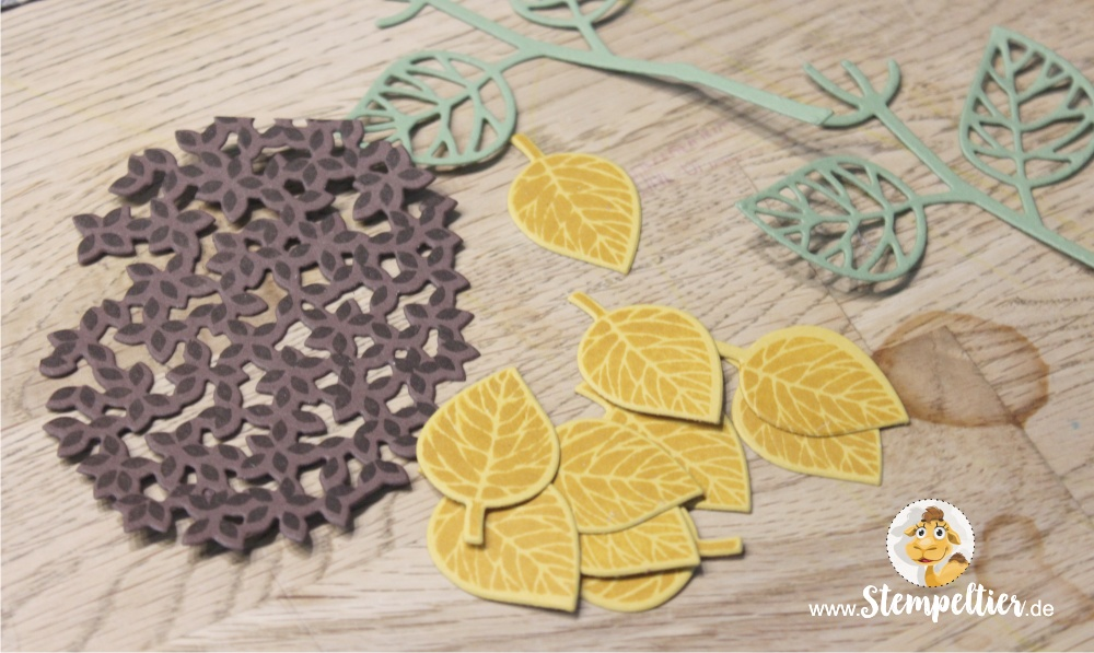 stampin Up thoughtful branches vintage leaves stempeltier sonnenblume wald der worte sunflowers