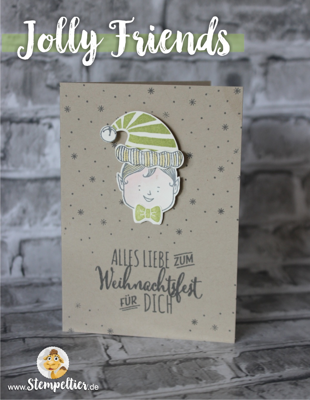 stampin up neu Winterkatalog 2016 Jolly friends elf vom Stempeltier Kaufbeuren
