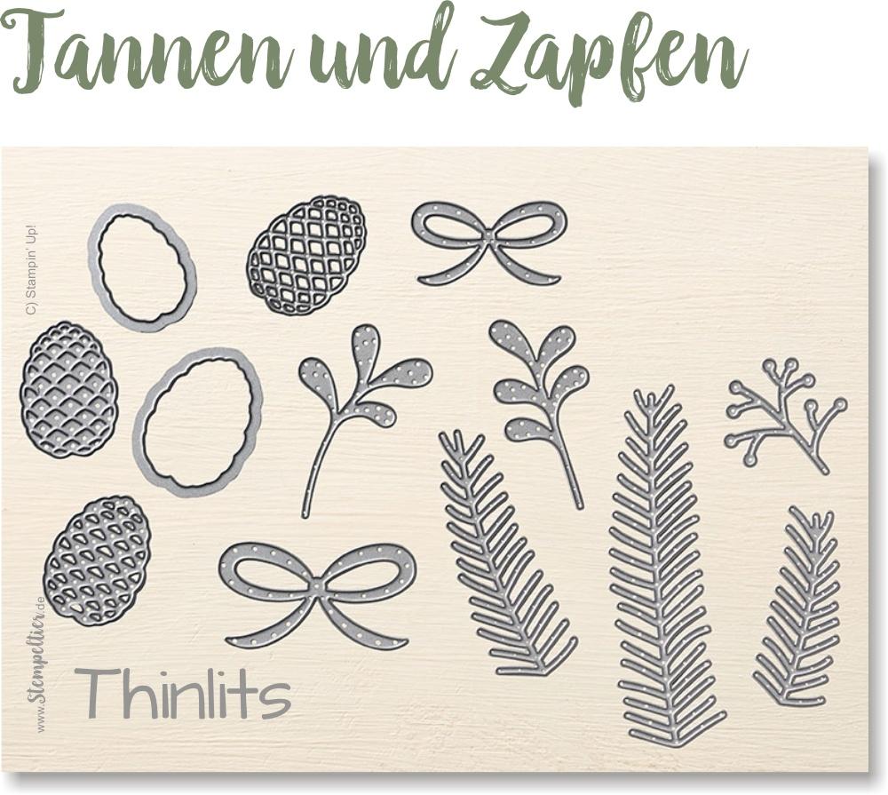 thinlits Tannen und Zapfen von Stampin Up 2016 neu winterkatalog 141851 stempeltier