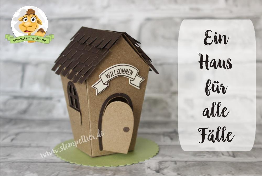 Stampin up ein haus für alle Fälle zu Hause Hausbau willkommen neues Zuhause sweet home Stempeltier