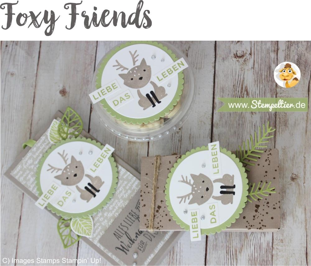 foxy friends geschenkset mitbringsel rentier by stampin up verpackung Stempeltier winter weihnachten anleitung