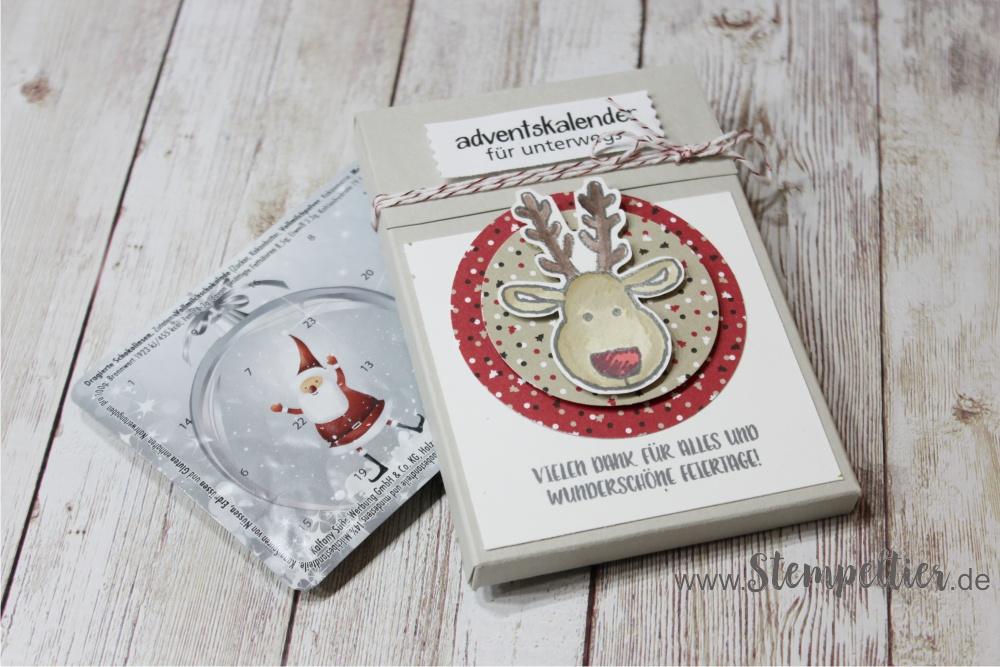 adventskalender to go stampin up weihnachten verpacken blog stempeltier anleitung maße zuckerstangenzauber ausgestochen weihnachtlich blister