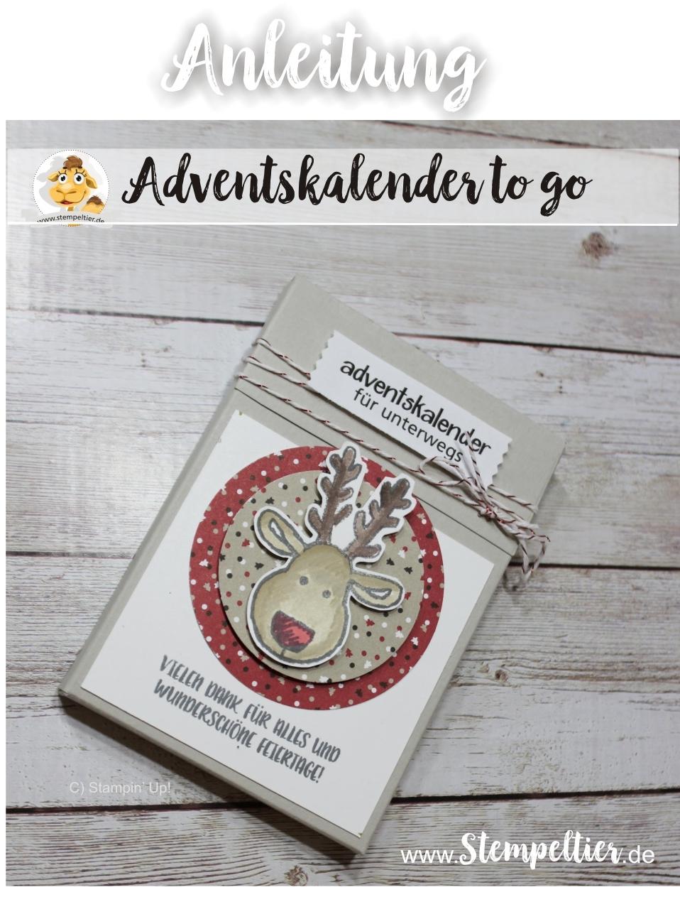 adventskalender to go stampin up weihnachten verpacken blog stempeltier anleitung maße