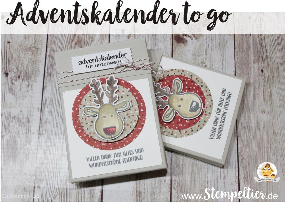 stampin up blog adventskalender to go weihnachten unterwegs anleitung demo stempeltier rentier candy cane lane DSP