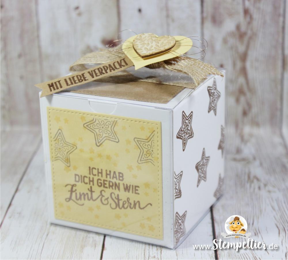 stampin up blog freude für die feiertage weihnachten verpacken zimt stern plätzchen verpacken stempeltier geschenkschachtel