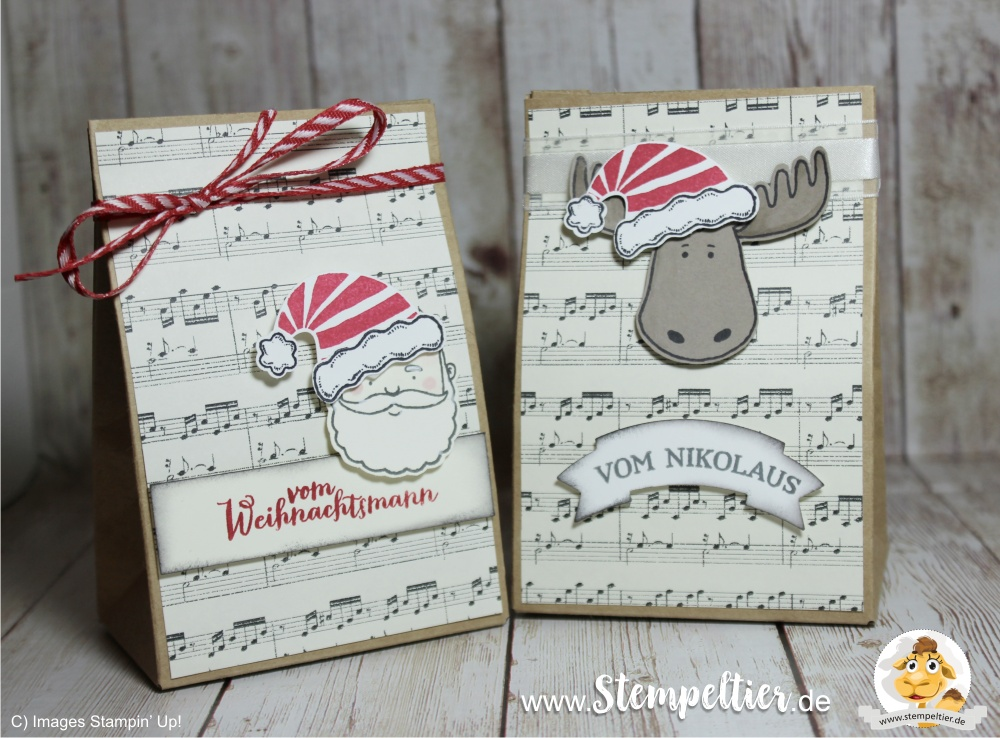 stampin up blog jolly friends geschenktüte gift bag punchboard christmas santa verpackung