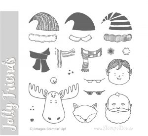 stampin up blog jolly friends santa reindeer elf christmas weihnachten stempeln stempeltier