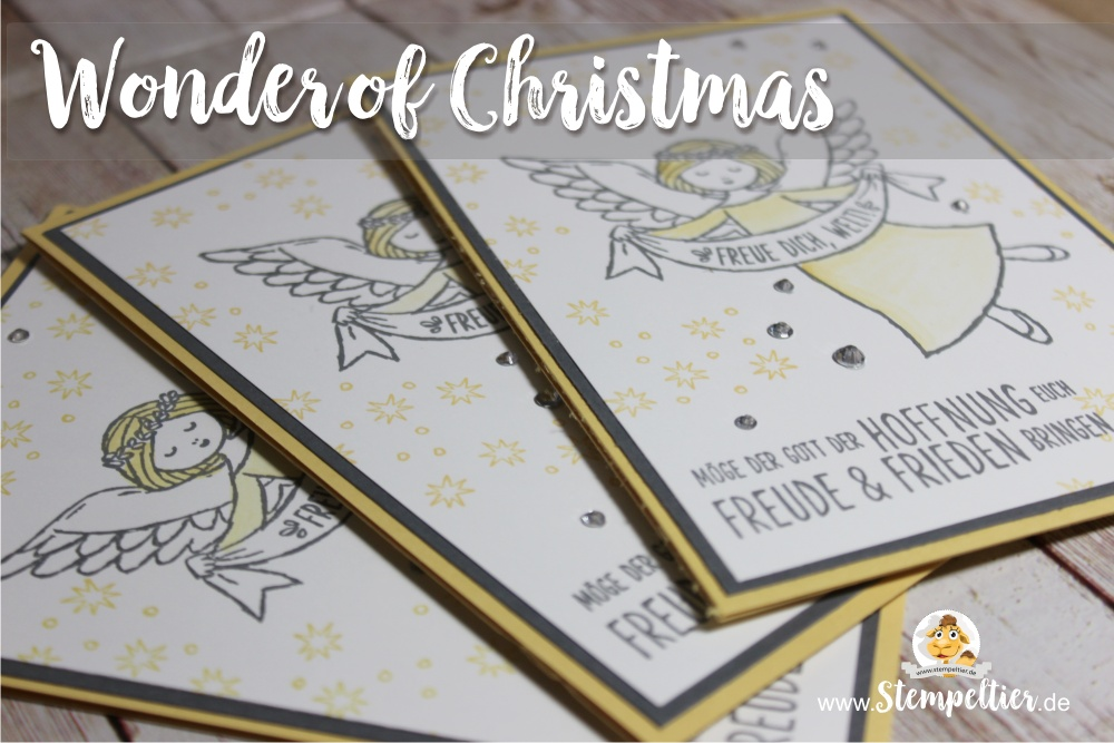 stampin up wonder of christmas angel blog freue dich welt stempeltier