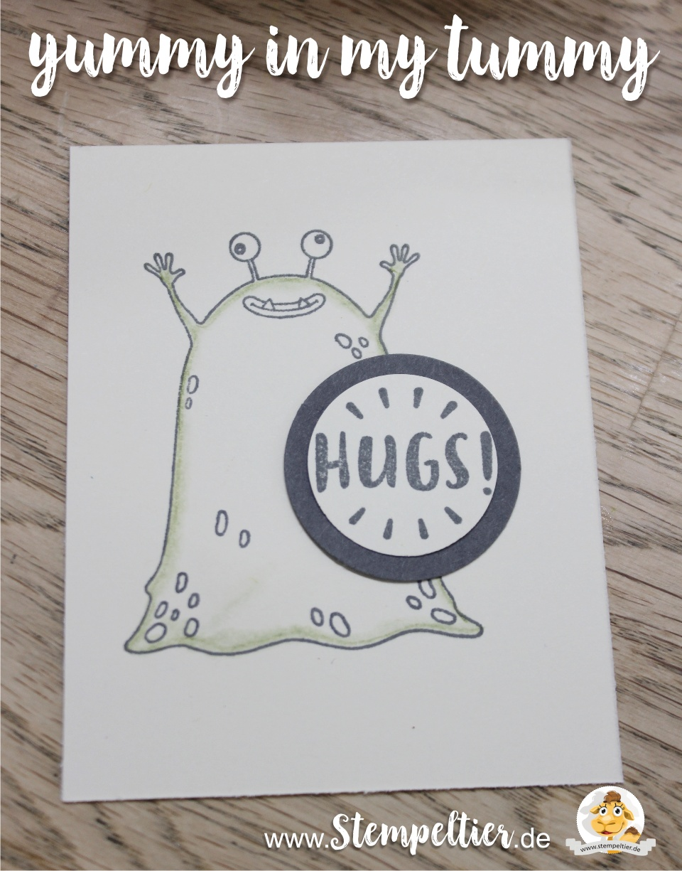 stampin up 2017 monster yummyinmytummy schüttelkarte bighshot stempeltier hugs alien frühjahr sommerkatalog