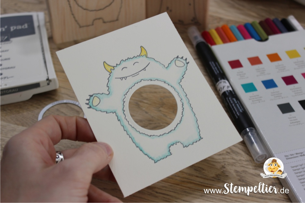 stampin up monster yummy in my tummy occasions catalogue 2017 preview hug schüttelkarte