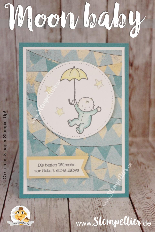 stampin up moon baby birth geburt verpackung geschenk cupcakes und karrussels Stempeltier kaufbeuren