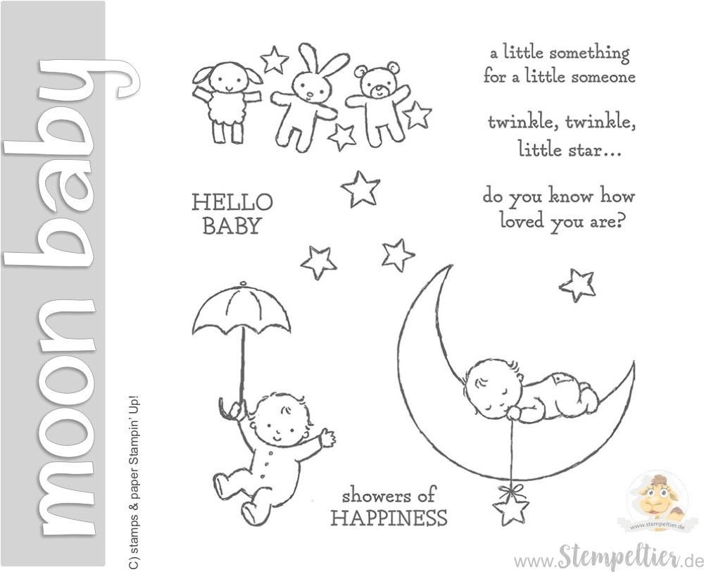 stampin up moon baby occasions2017 geburt mond baby