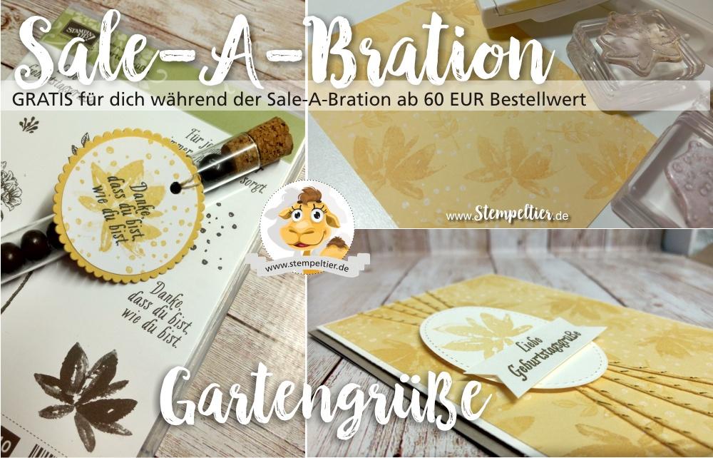 stampin up sale a bration SAB 2017 gartengrüße gartengruesse geburtstagskarte reagenzglas