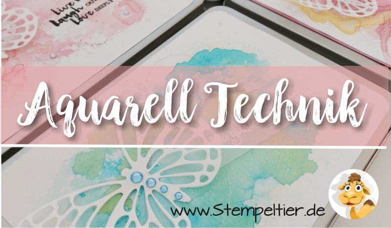 aquarell technik stampin up hintergründe watercolor