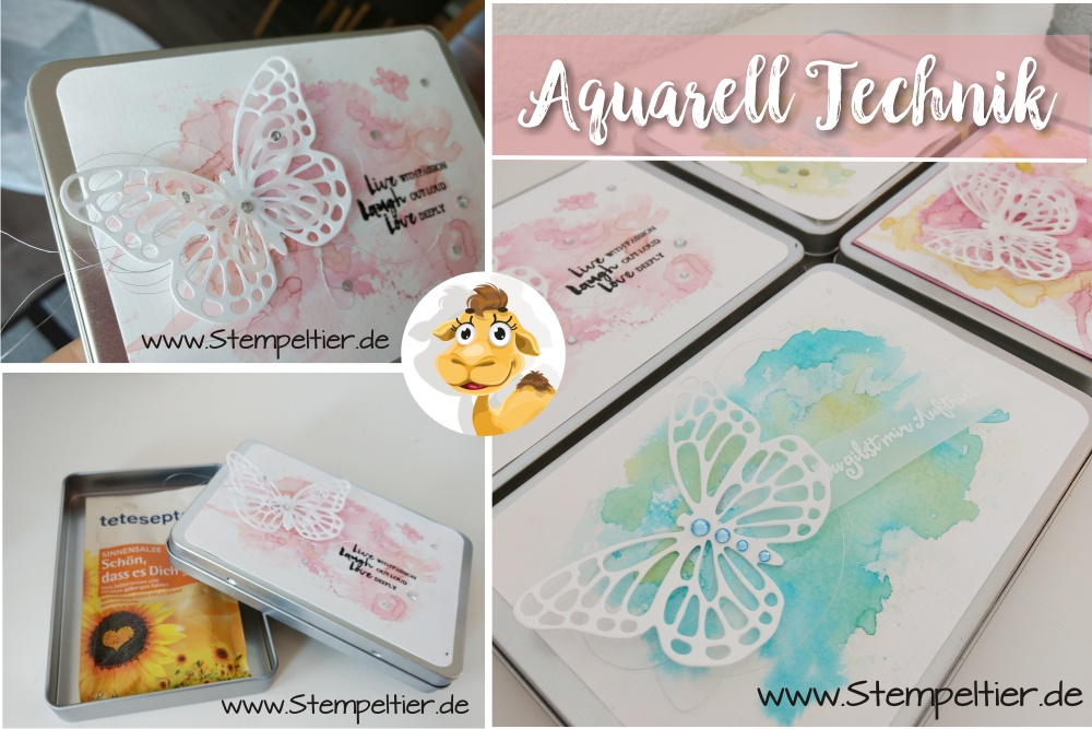 stampin up aquarell technik anleitung video tutorial watercoloring stempeltier