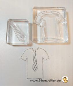 stampin up blog custom tee thirt krawatte männerkarte stempeltier