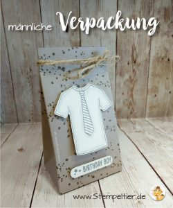 stampin up blog verpackung geschenktüte Mann custom tee tshirt krawatte masculine card stempeltier