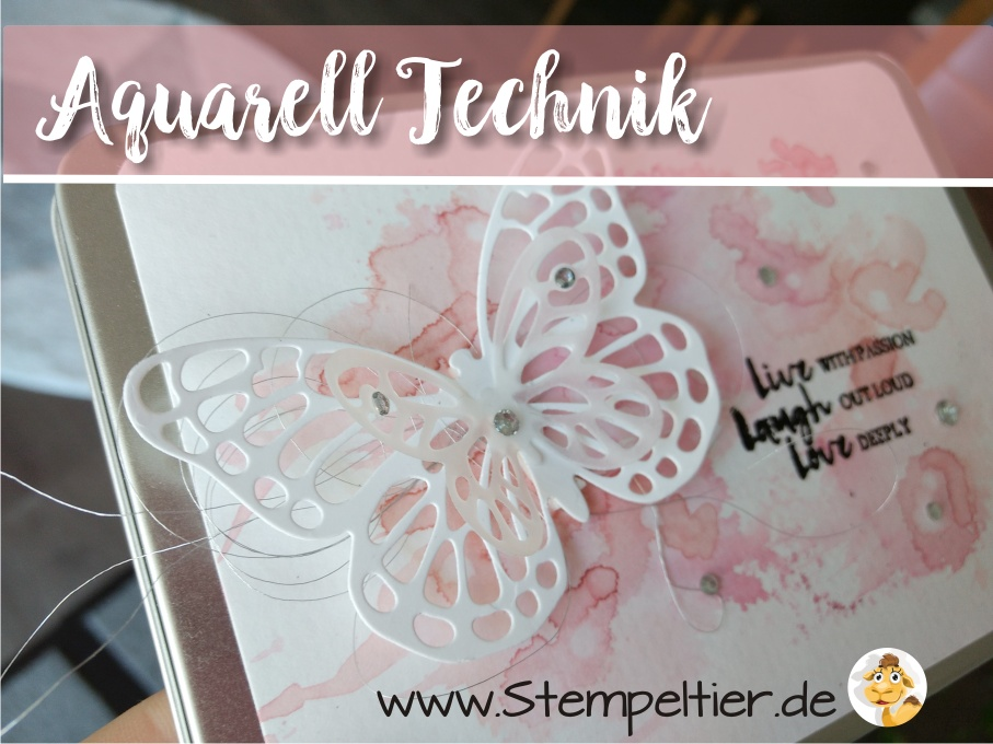 stampin up watercolor wings schmetterling butterfly metalldose dose verpacken