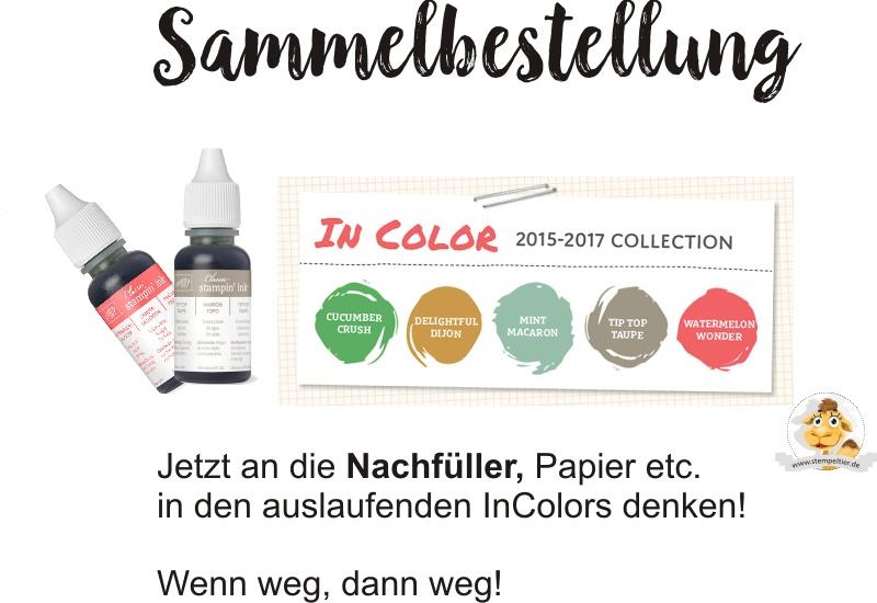 stampin up sammelbestellung incolors 2015-2017 taupe minzmakrone nachfüller bestellen