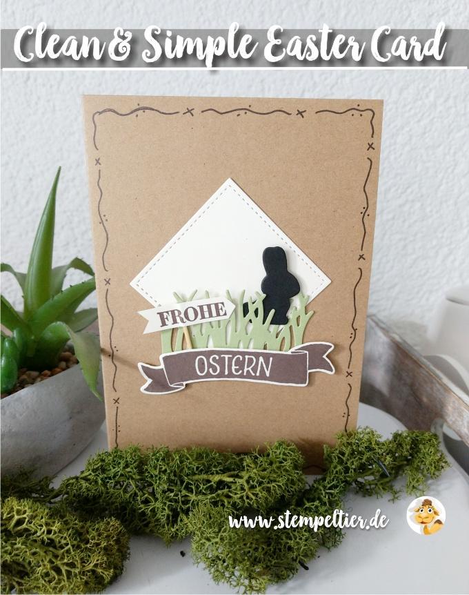 stampin up blog eastercard Osterkörbchen craft schwarz stitched framelits stempeltier ostern