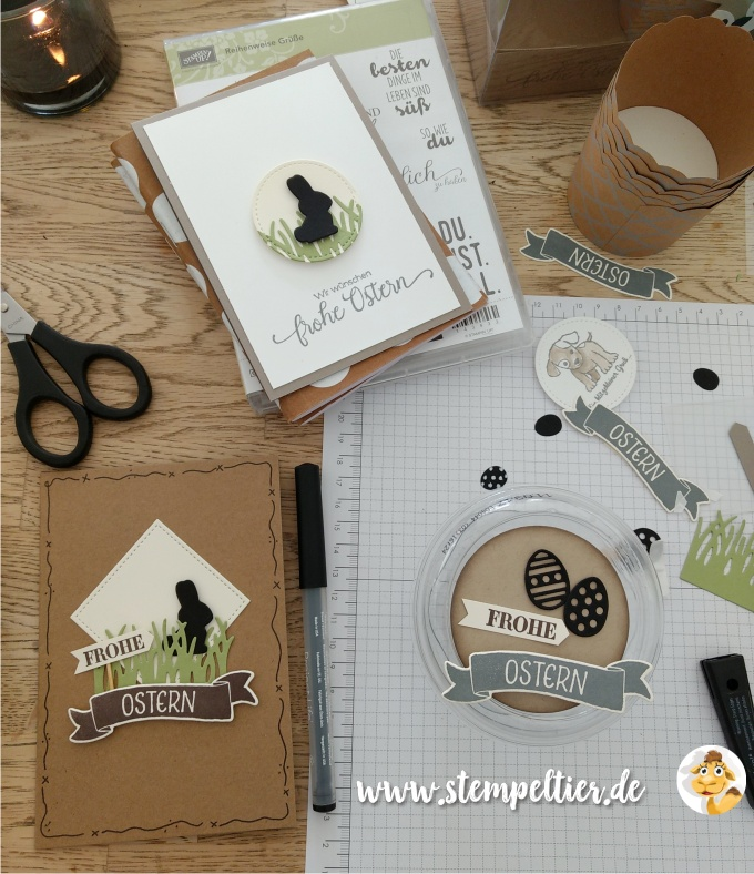 stampin up blog ostern 2017 osterkörbchen hase frohe ostern easter card stempeltier
