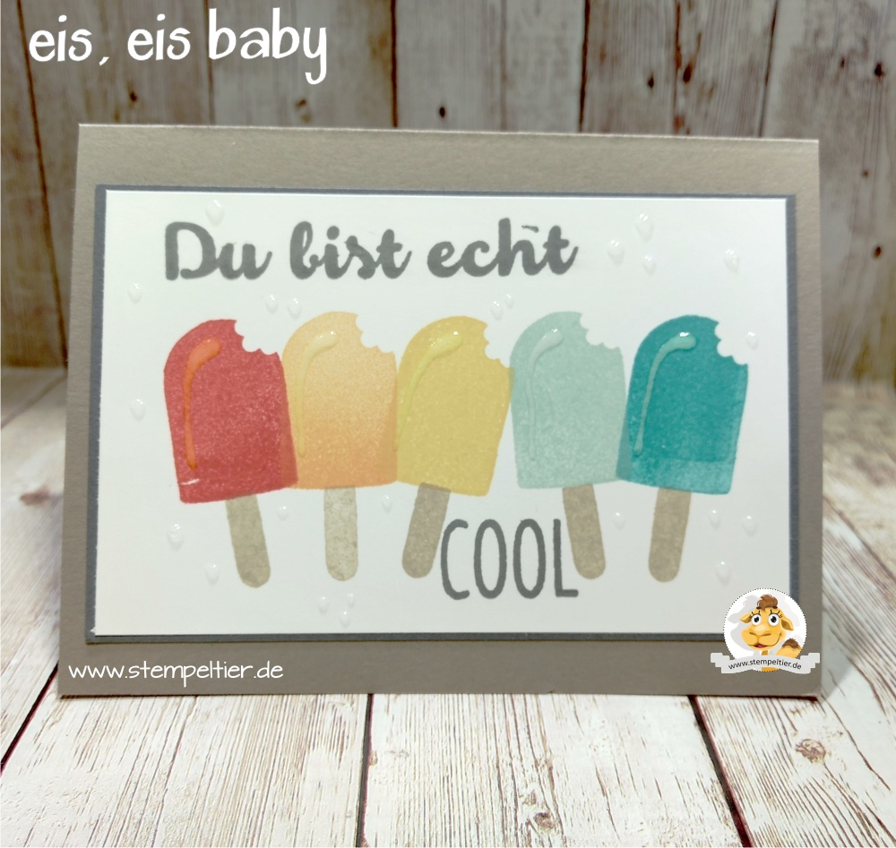 stampin up frühling geburtstag 2017 Eis eis baby Icecream stempeltier 2017 birtdhay