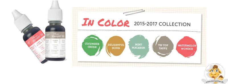 stampin up incolors 2015 2017 nachfüller bestellen taupe minzmakrone stempletier