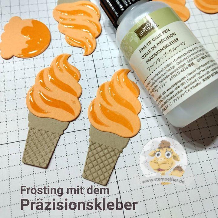 stampin up präzisionskleber frosting eis eis baby icecream frühling spring stempeltier