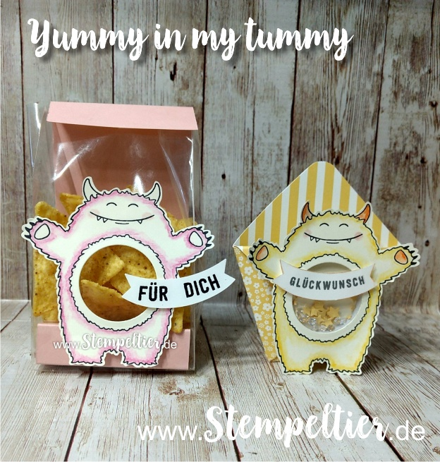 stampin up schüttel monster yummy tummy bannerduo colorieren 1