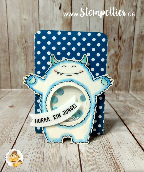 stampin up schüttel monster yummy tummy bannerduo colorieren bermuda